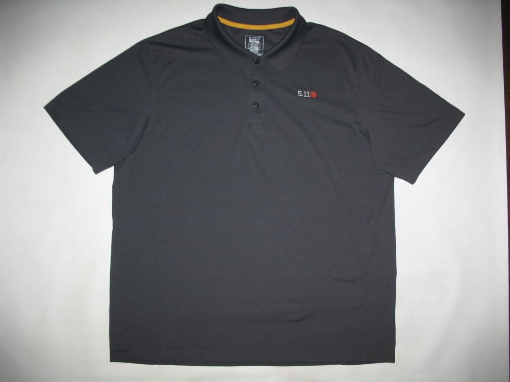 Футболка 5.11  tactical professional pinnacle grey short sleeve polo jersey - 2