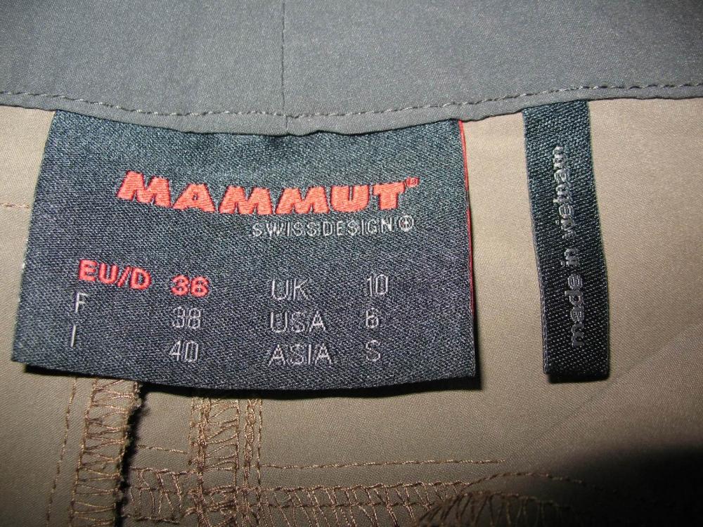 Штаны MAMMUT runje pants lady (размер S/M) - 9