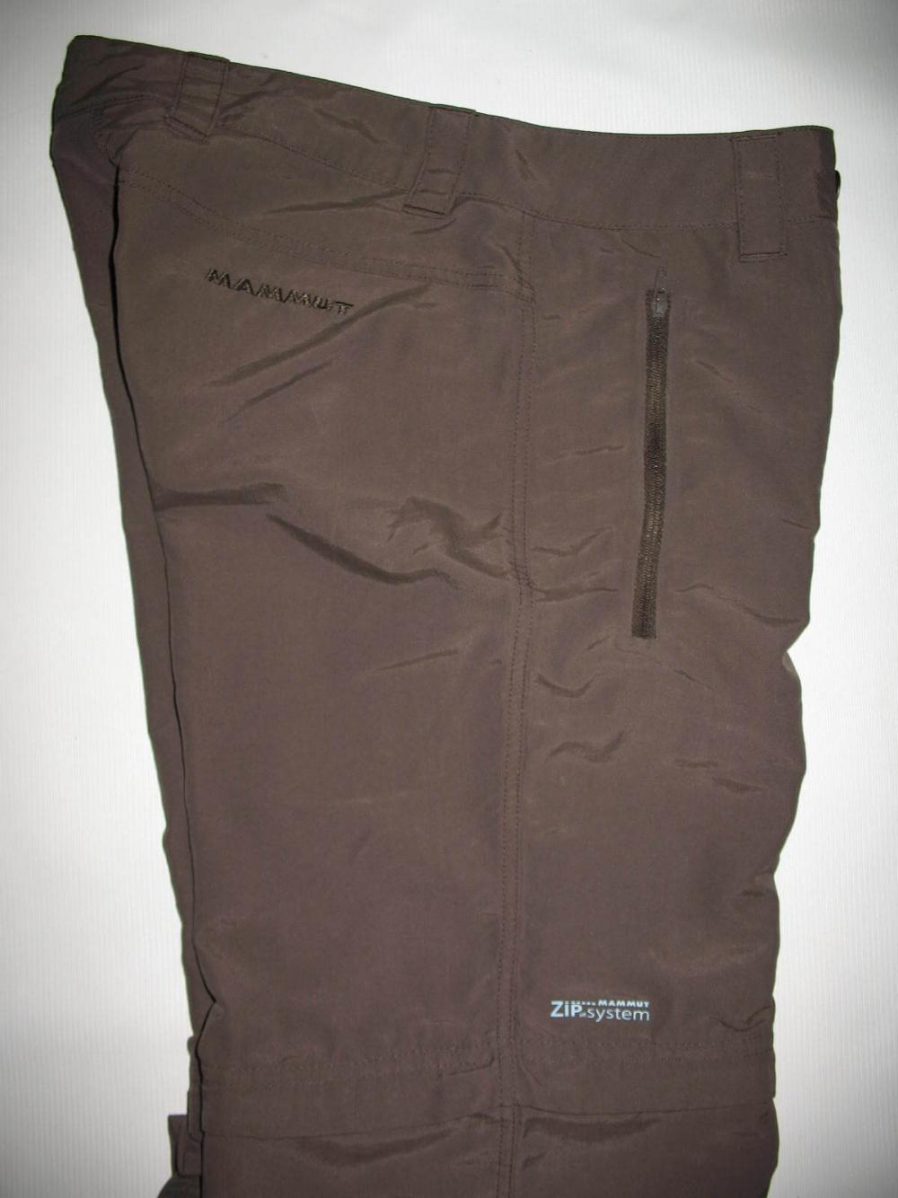 Штаны MAMMUT Zip Off brown pants lady (размер S/XS) - 6