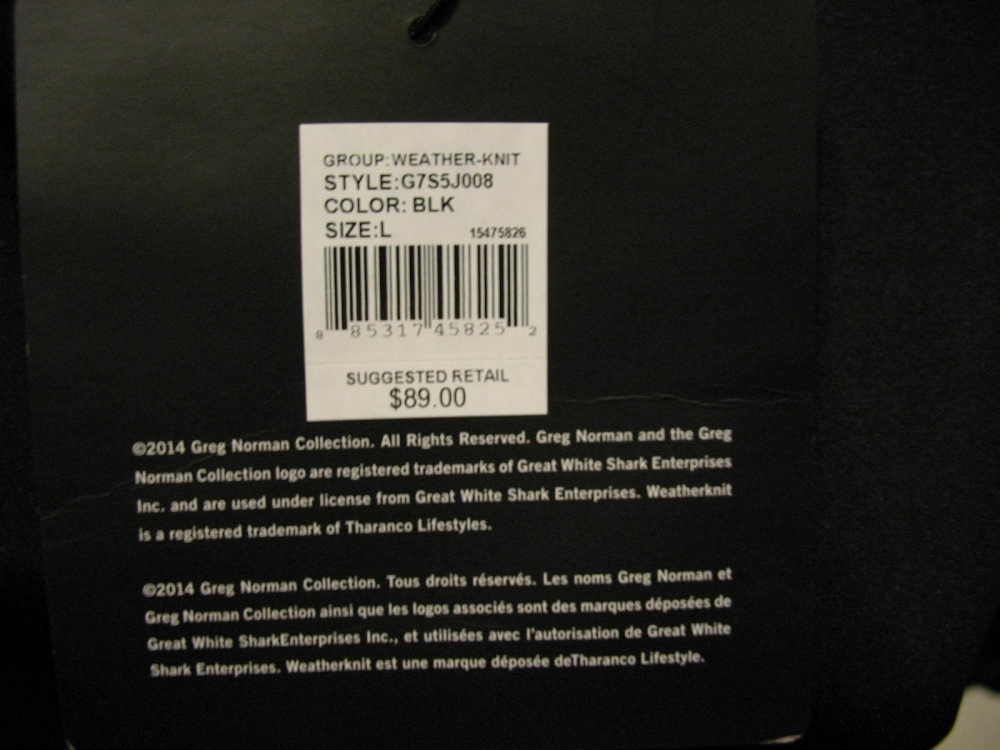Футболка  GREG NORMAN Weatherknit Rain Protection 1/4-Zip Short Sleeve (размер L(реально XL)) - 11