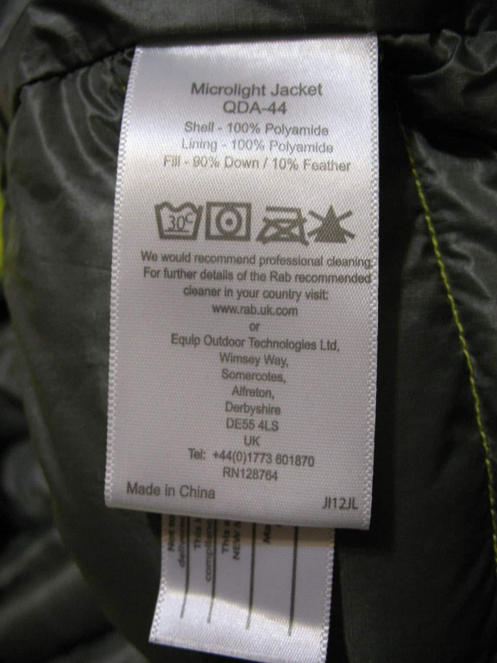 Куртка RAB microlight jacket (размер XXL/XXXL) - 8