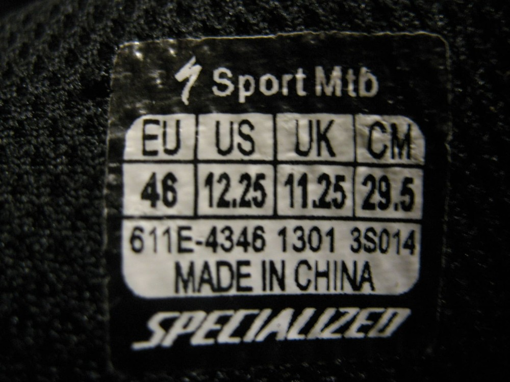 Велотуфли SPECIALIZED sport mtb 46 shoes (размер UK11/US12/EU46(на стопу 295 mm)) - 11