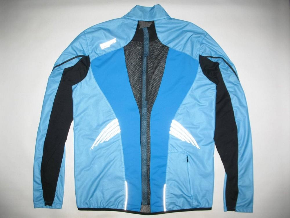 Вело/бег куртка GORE gtx windstopper ultralight blue jacket (размер XXL) - 1