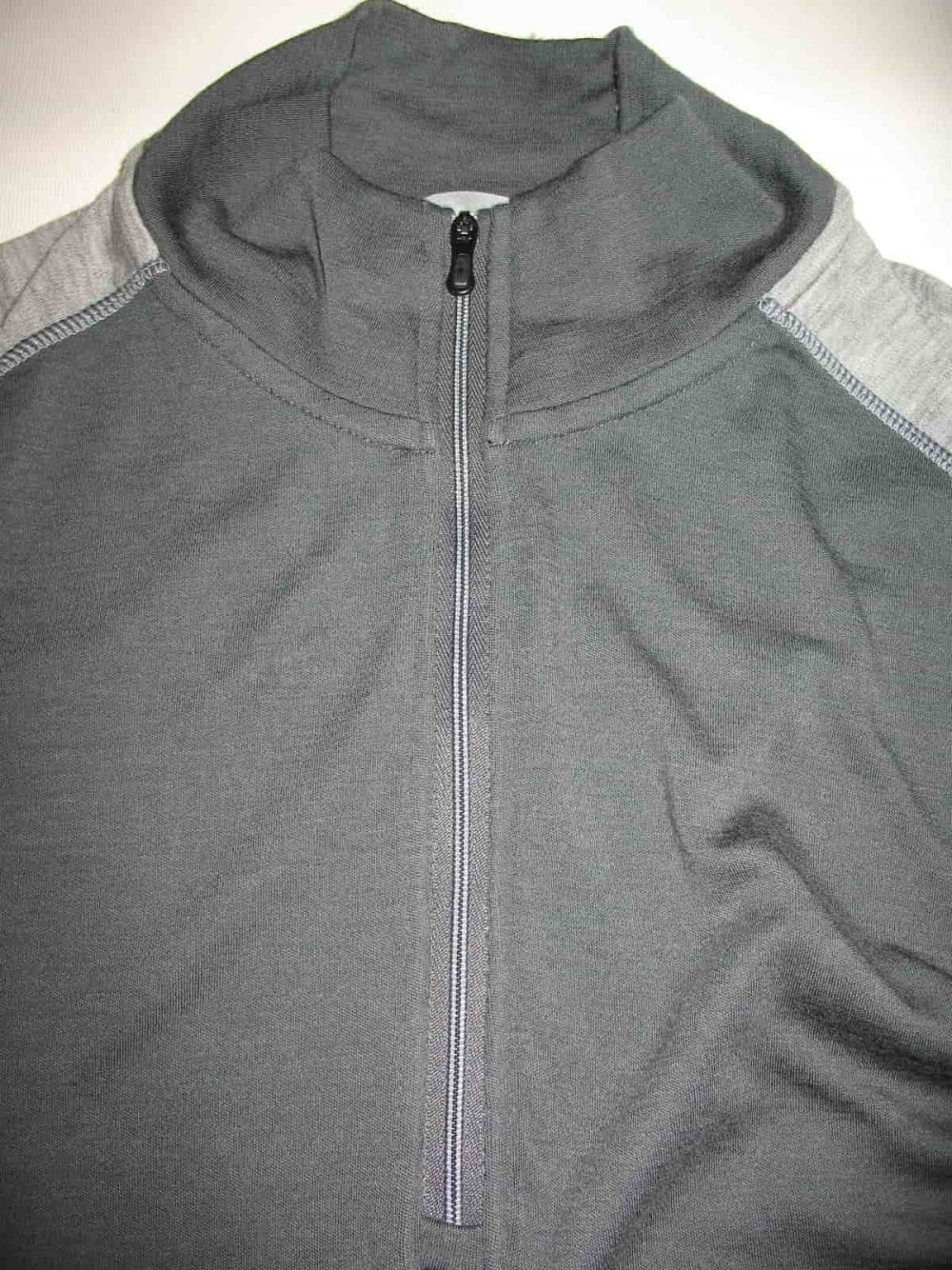 Кофта SMARTWOOL merino 250 base layer 1/4 zip grey jersey (размер XL) - 3