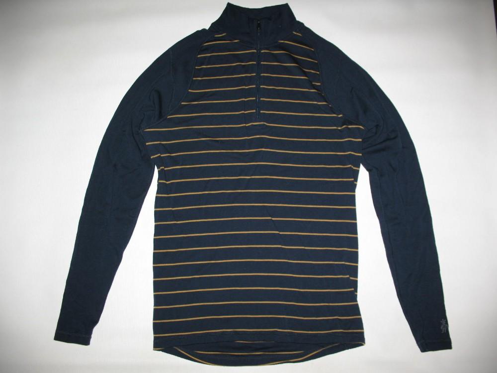 Кофта SMARTWOOL merino 250 base layer 1/4 zip navy jersey (размер М) - 1