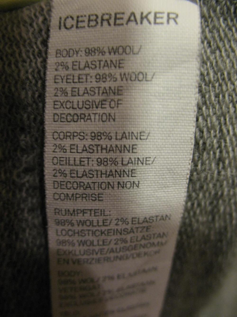 Кофта ICEBREAKER Midweight long sleeve Jacket(размер L) - 12