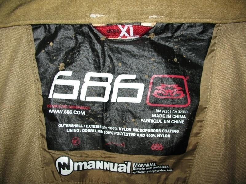 Штаны 686 Mannual Scull  pants  (размер XL) - 10