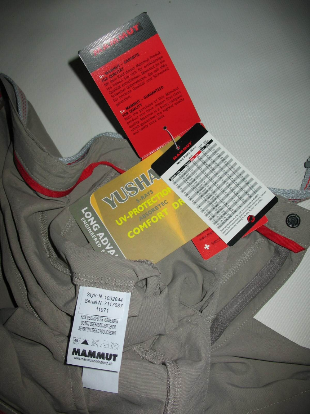 Штаны MAMMUT Zip off pants (размер 52-L/XL) - 10