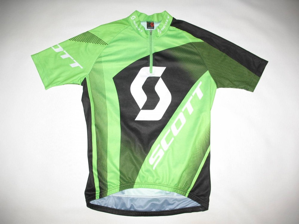 Веломайка SCOTT authentic green cycling jersey (размер M) - 1