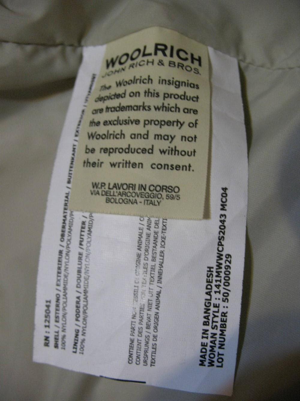 Куртка WOOLRICH jacket lady (размер S) - 10