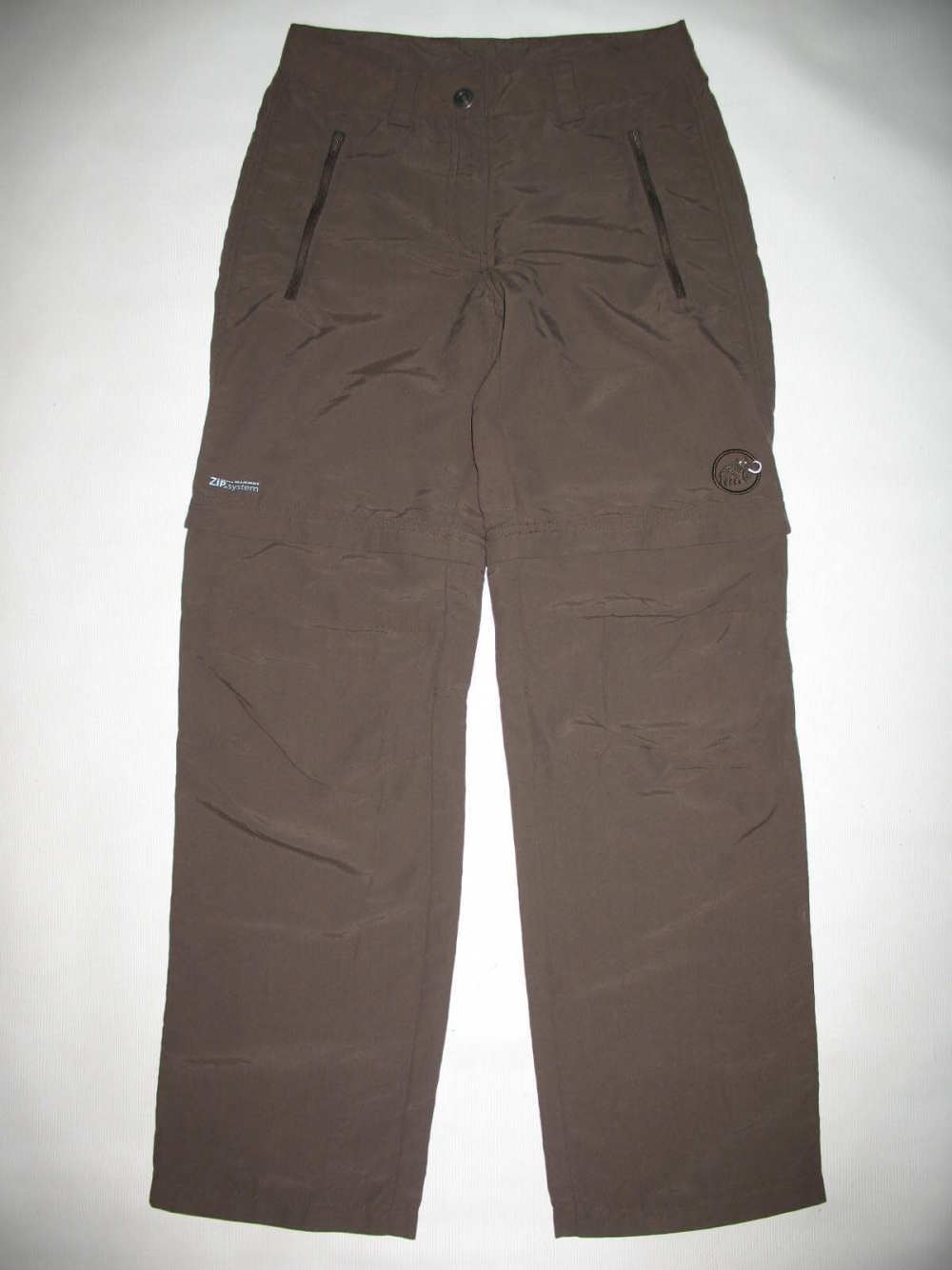 Штаны MAMMUT Zip Off brown pants lady (размер S/XS) - 1