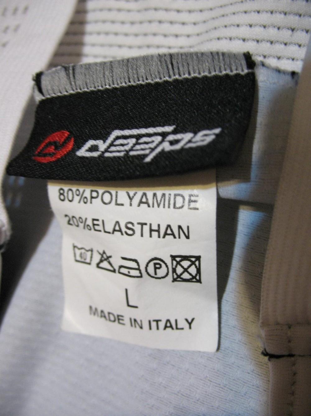 Велошорты DEEPS bib cycling shorts (размер L) - 4