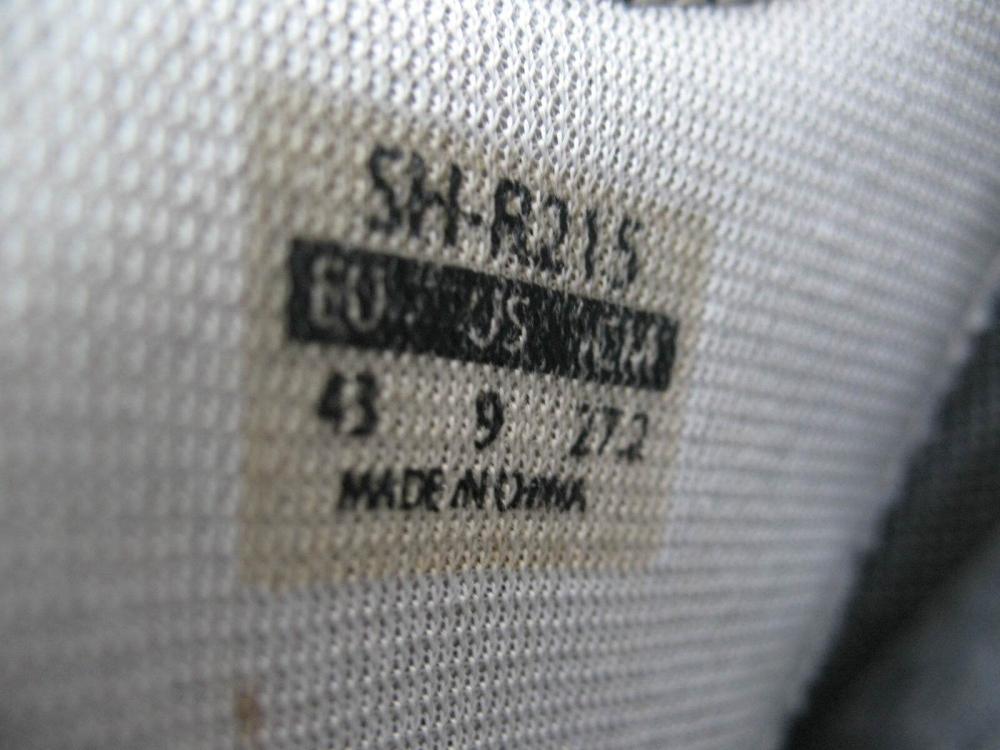 Велотуфли SHIMANO SH-R215 Road Shoes (размер US9/EU43(на стопу 272 mm)) - 10