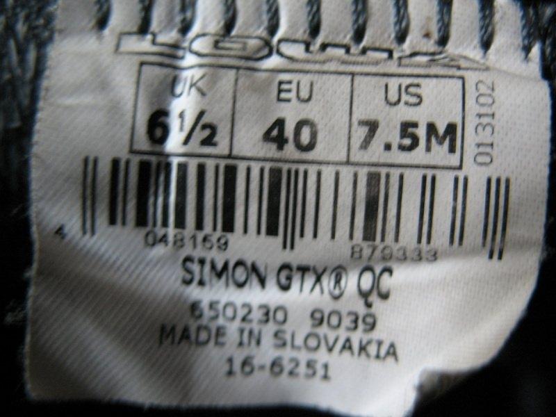 Кроссовки LOWA Simon GTX unisex (размер US(M) 7, 5/UK6, 5/EU40(на стопу до 257 mm)) - 12
