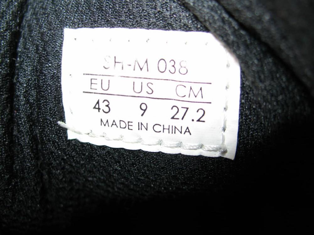 Велотуфли SHIMANO sh-m038 MTB shoes (размер US9;EU43(на стопу до 272 mm)) - 8