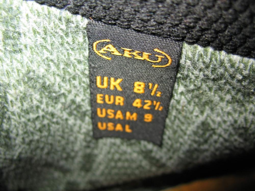 Ботинки AKU air 8000 (размер UK8,5/US9/EU42,5(на стопу 270mm)) - 7