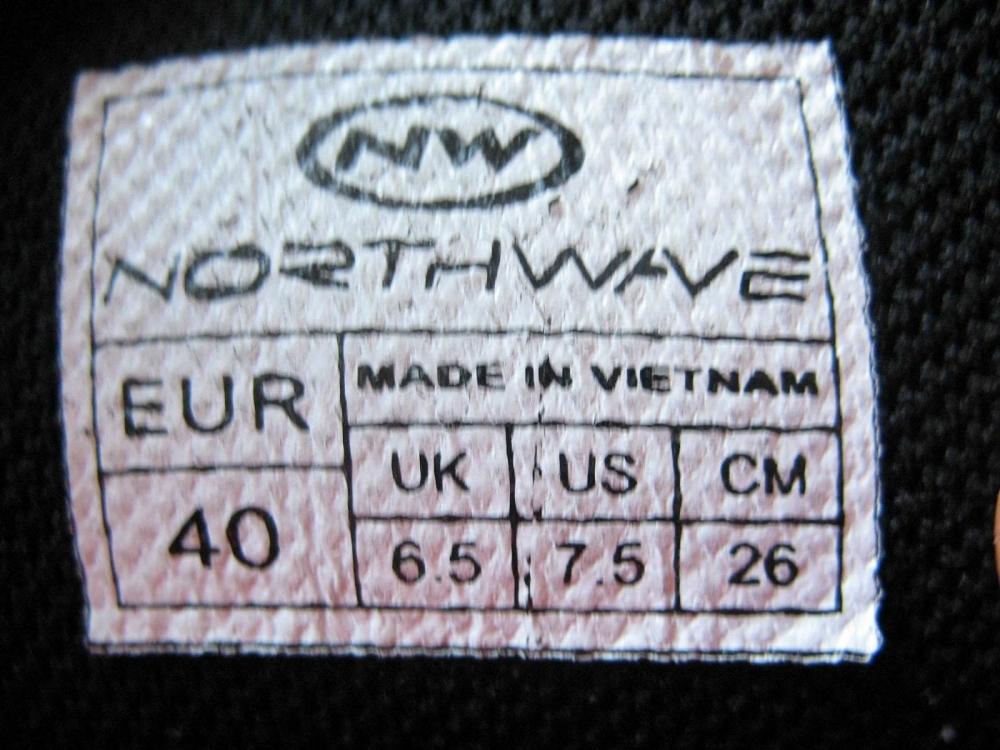 Велотуфли NORTHWAVE rocker bike shoes (размер UK6,5/US7,5/EU40(на стопу 255mm)) - 12