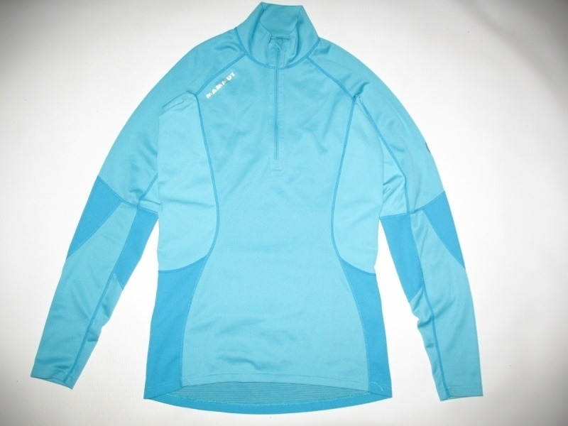Футболка  MAMMUT Zip Longsleeve all-year lady (размер S) - 1