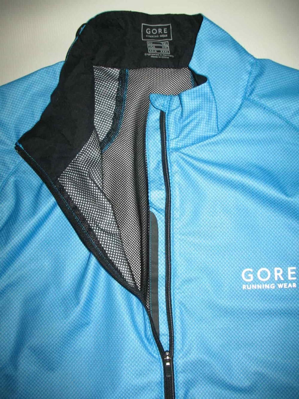 Вело/бег куртка GORE gtx windstopper ultralight blue jacket (размер XXL) - 2