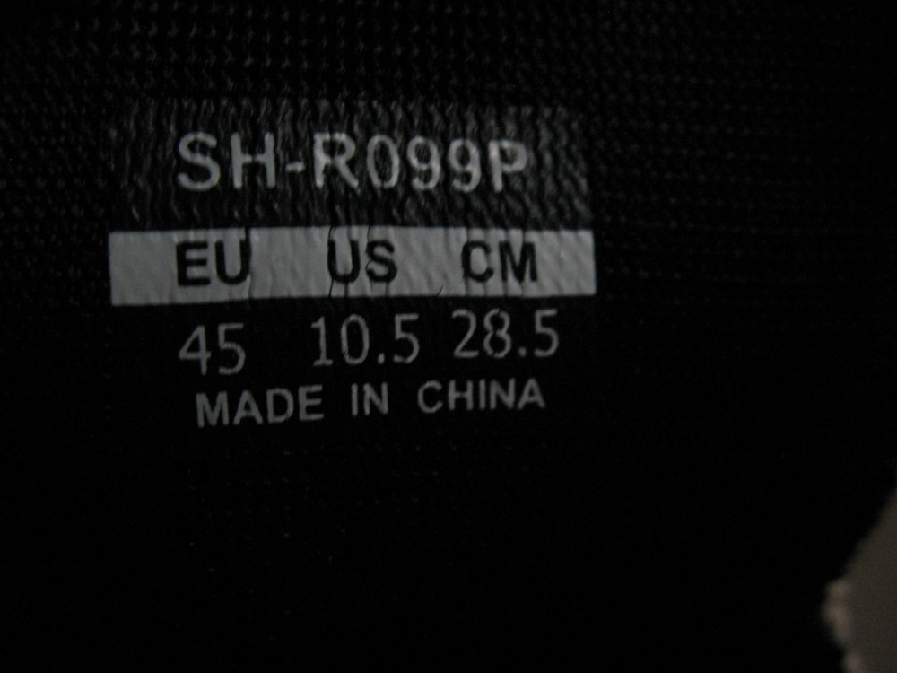 Велотуфли SHIMANO sh-r099 road shoes (размер US10,5/EU45(на стопу 285 mm)) - 8