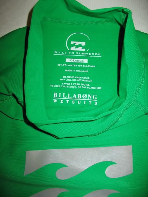 Футболка BILLABONG intersection ss green rashguard (размер XL) - 3