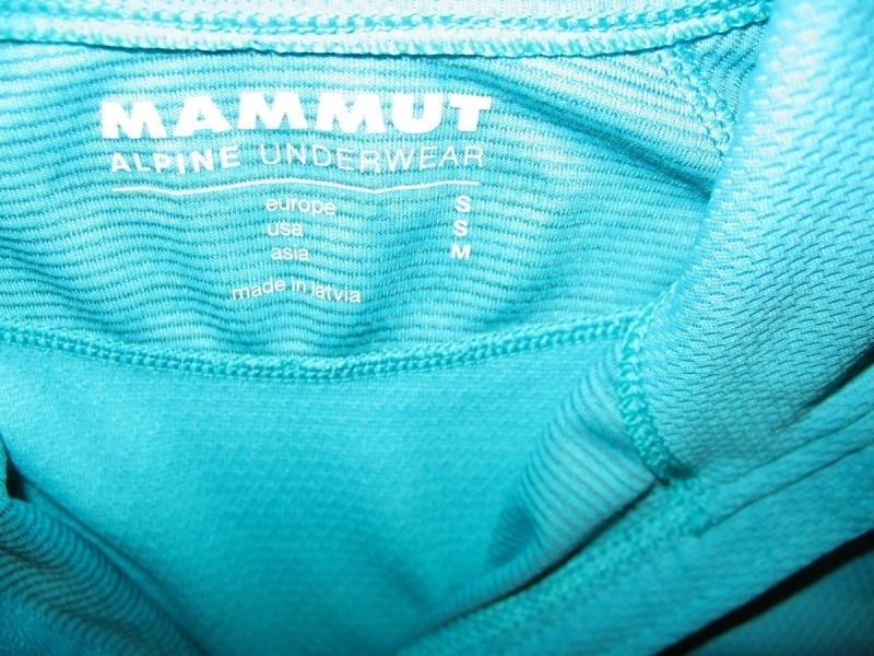 Футболка  MAMMUT Zip Longsleeve all-year lady (размер S) - 5