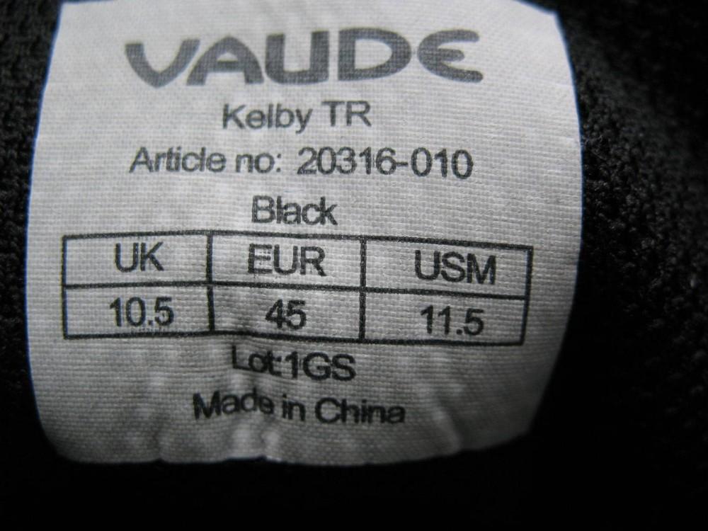 Велотуфли VAUDE kelby TR bike shoes (размер US9/UK9,5/EU43,5(на стопу +-290 mm)) - 11