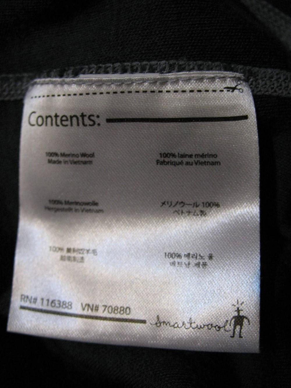 Кофта SMARTWOOL merino 250 base layer 1/4 zip grey jersey (размер XL) - 5