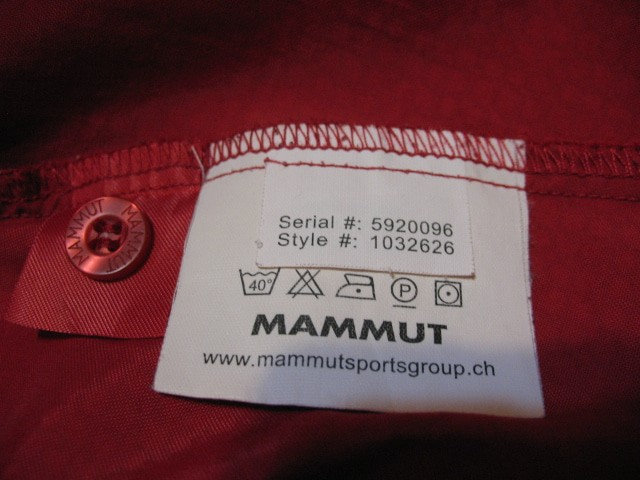 Рубашка MAMMUT red shirt (размер XL) - 4