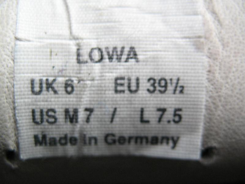 Ботинки LOWA unisex   (размер USм 7/USl 7, 5/UK6/EU39, 5(250mm)) - 11