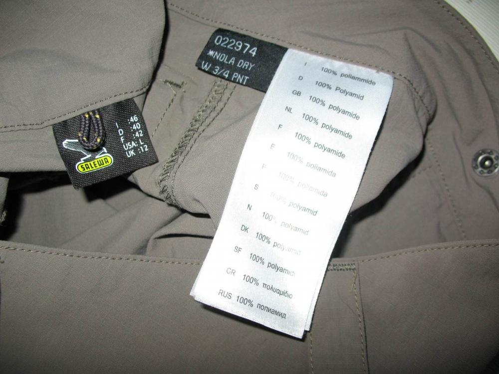 Бриджи SALEWA nola dry 3/4 pants lady (размер L) - 9