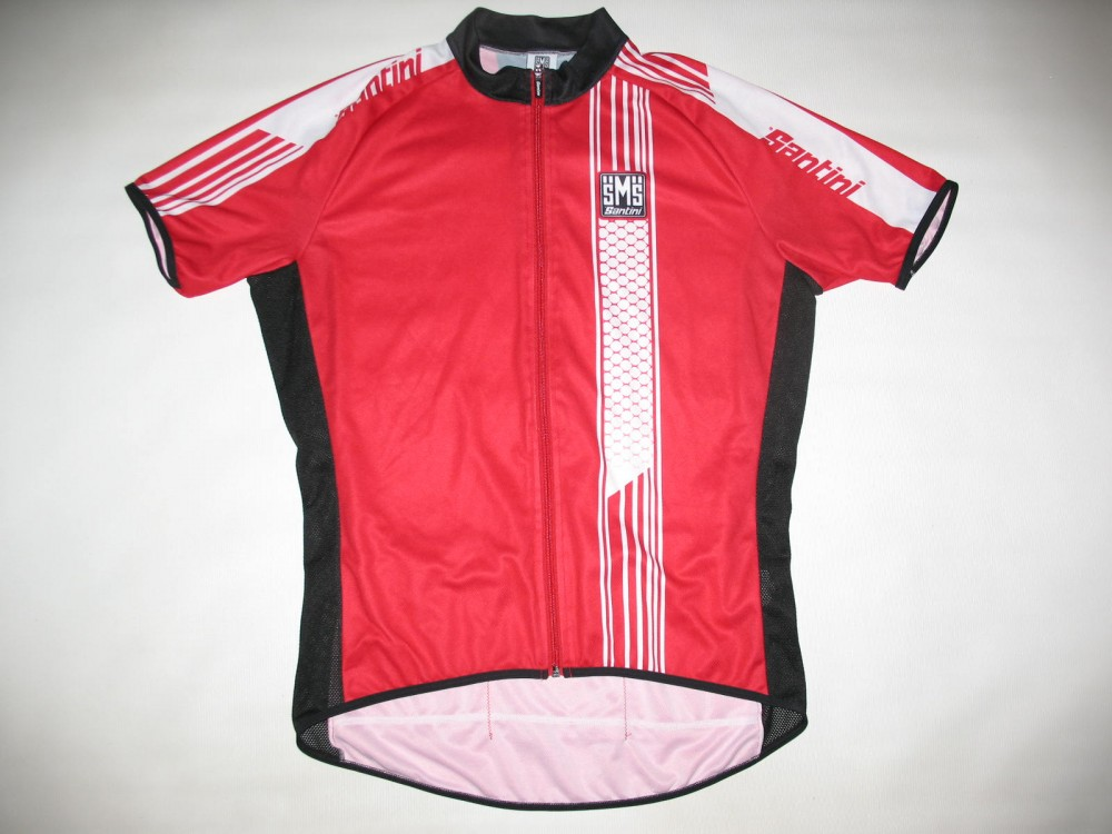 Веломайка SANTINI red cycling jersey (размер XL) - 19259