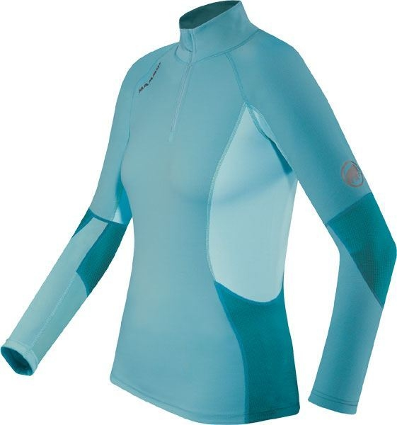 Футболка  MAMMUT Zip Longsleeve all-year lady (размер S) - 17752