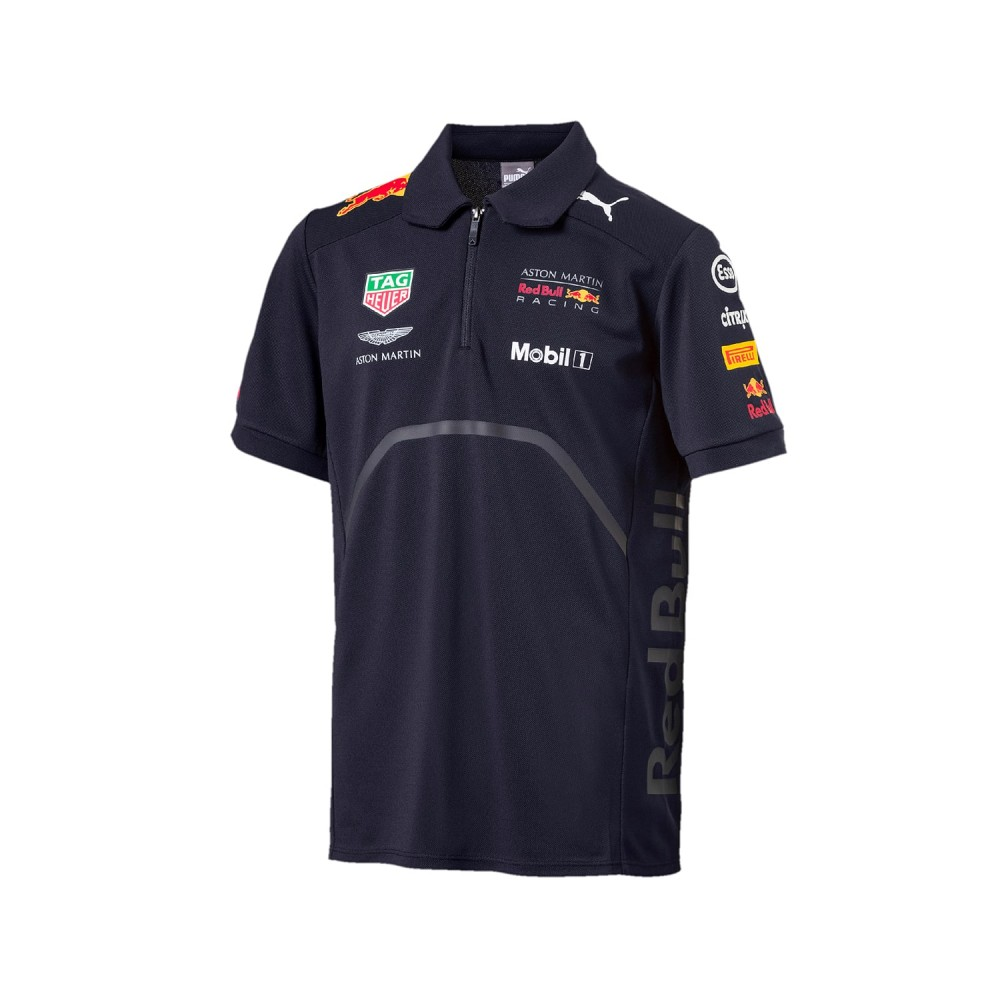 Поло PUMA aston martin red bull racing 18 polo jersey (размер M) - 19036